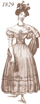 Ladies' 1829 costume