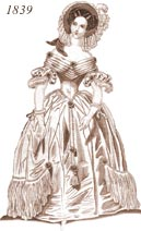Ladies' 1839 costume